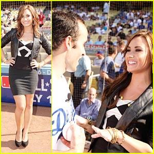 Demi Lovato: Let's Go Dodgers!