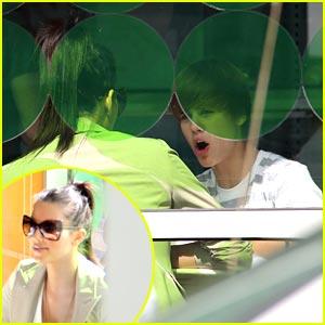 Justin Bieber & Kim Kardashian: Pinkberry Pair