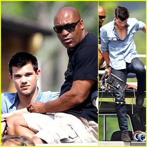 Taylor Lautner: On Set with John Singleton!