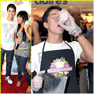 Booboo Stewart Makes Millions of Milkshakes for Muscular Dystrophy
