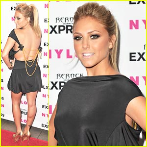 Cassie Scerbo: Backless Beauty at Nylon Party!