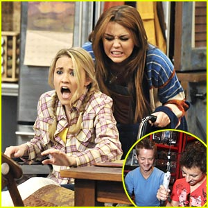 Emily Osment & Miley Cyrus: Wheelchair War