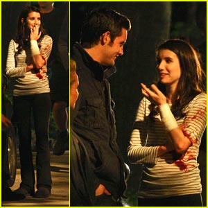 Emma Roberts: Late Night Fright Shoot