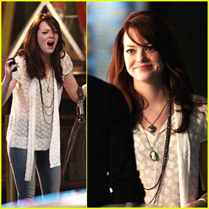 Emma Stone Films Friends with Benefits
