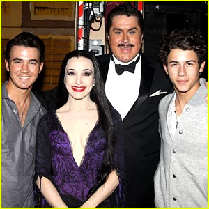 The Jonas Brothers Visit The Addams Family