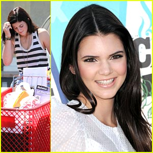 Kendall & Kylie Jenner Stock Up on School Supplies