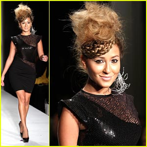Adrienne Bailon Struts For Sachika