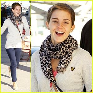 Emma Watson is Heathrow Happy