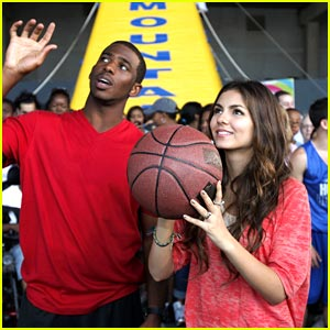 Victoria Justice & Chris Paul: Basketball Buds