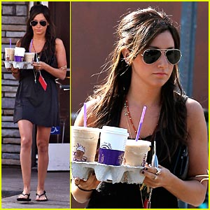 Ashley Tisdale is a Coffee Carrier
