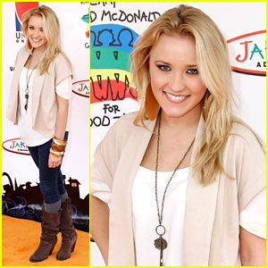 Emily Osment has Good Times with Ronald McDonald