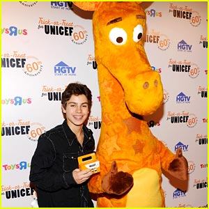 Jake T. Austin Trick-Or-Treats For UNICEF