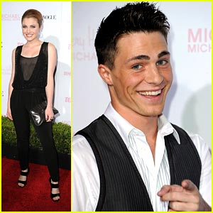 Colton Haynes & Skyler Samuels Party with Teen Vogue