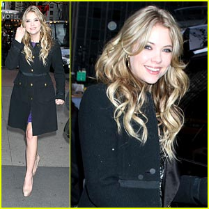 Ashley Benson Promotes 'Christmas Cupid' on PIX