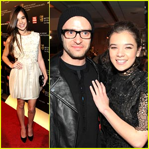Hailee Steinfeld Screens 'True Grit' with Justin Timberlake