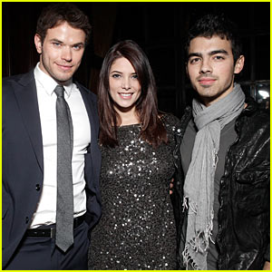 Joe Jonas & Ashley Greene: YRB Celebration with Kellan Lutz!