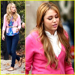 Miley Cyrus & Megan Park: Pink Ladies