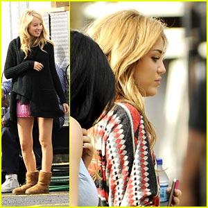Miley Cyrus & Megan Park: 'So Undercover' Set Girls