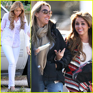 Miley Cyrus: 'So Undercover' Visit from Mom!