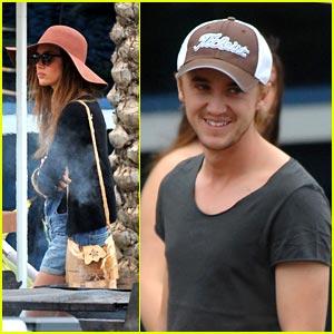 Tom Felton: Golf in Miami with Jade Olivia