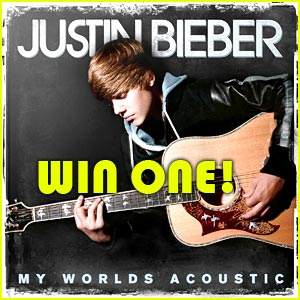Win Justin Bieber 'My World Acoustic' SIGNED CD!
