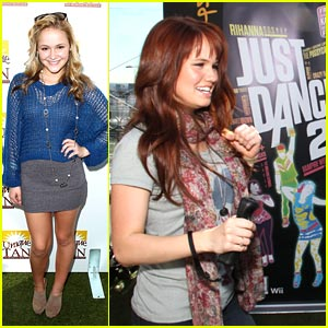 Debby Ryan & Cassi Thomson: Just Dance at Gifting Suites!