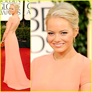 Emma Stone: Pretty in Peach at the Golden Globes