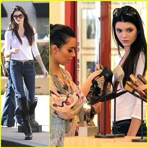 Kendall Jenner: Shoe Shopping with Kim &#038; Kourtney!