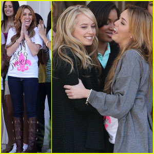 Miley Cyrus & Megan Park Are 'So Undercover'