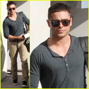 Zac Efron: Buzz Cut Errands Run