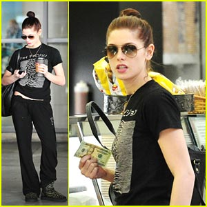 Ashley Greene: Starbucks Stop at LAX