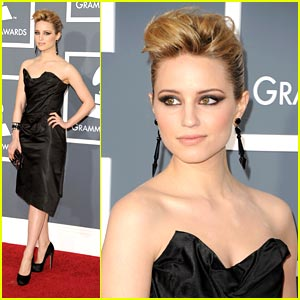 Dianna Agron is Grammys Glee'ful