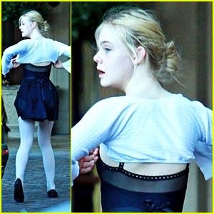 Elle Fanning: Beverly Hills Ballet Dancer