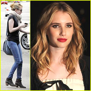 Emma Roberts: Car Cleaning Cutie