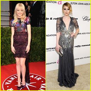 Emma Roberts & Emma Stone: Oscar Viewing Parties!