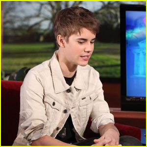 Justin Bieber Gives Ellen DeGeneres His Hair