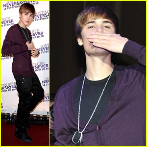 Justin Bieber: Paris Turns Purple!