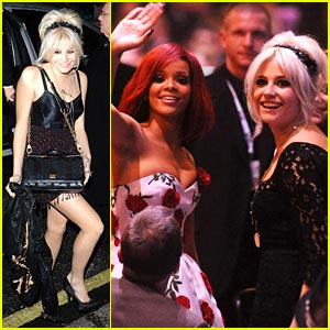 Pixie Lott: Brit Awards 2011 with Rihanna!
