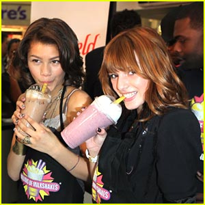 Zendaya & Bella Thorne 'Shake Up' Millions of Milkshakes