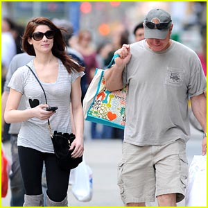 Ashley Greene: Soho Shopping with Dad Joe
