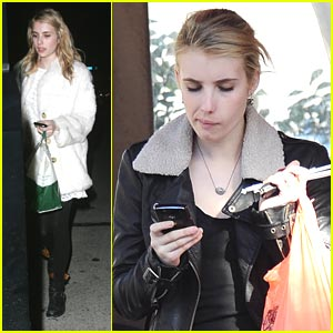 Emma Roberts Takes Out Tacos