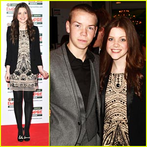 Georgie Henley: Empire Awards with Will Poulter!