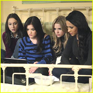 Lucy Hale & Shay Mitchell: Laptop Ladies