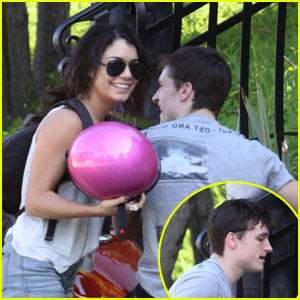 Vanessa Hudgens: Motorcycle Ride with Josh Hutcherson!