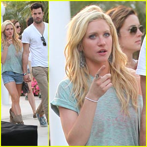 Brittany Snow is Cool At Coachella