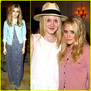 Dakota Fanning: Textile Launch with Emma Roberts!