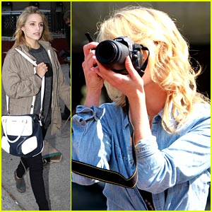 Dianna Agron: Central Park Picture Taker