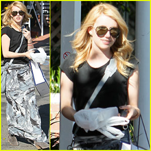 Emma Roberts: Fred Segal Shopper