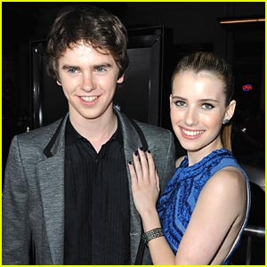 Freddie Highmore 'Screams' for Emma Roberts