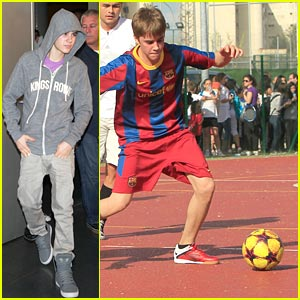 Justin Bieber: Soccer in Spain!
